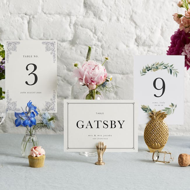 Table Names & Numbers