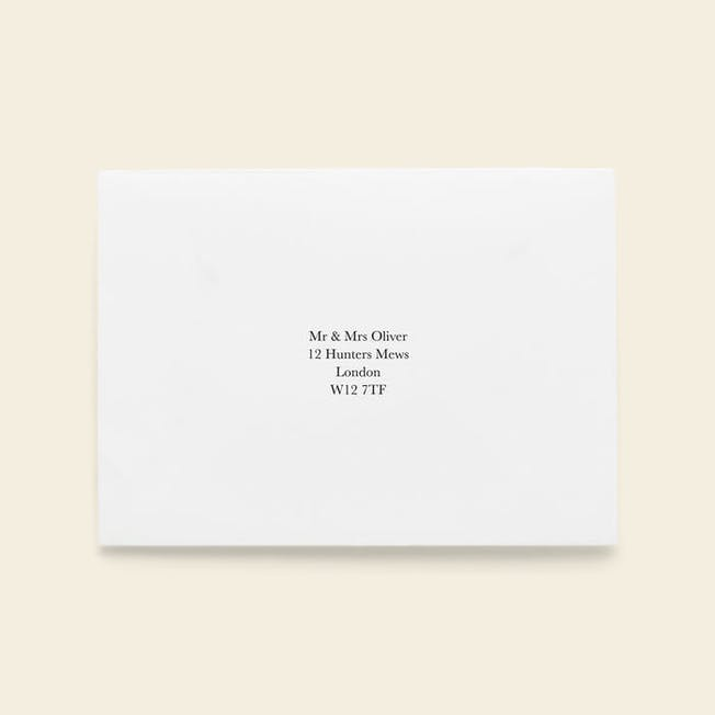 Recipient Address Printing