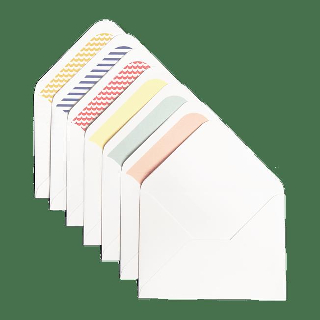 White Envelopes Included