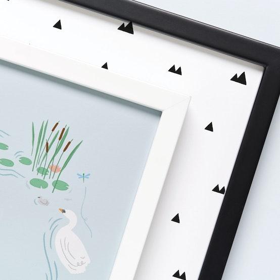 Solid Wood Black & White Frames