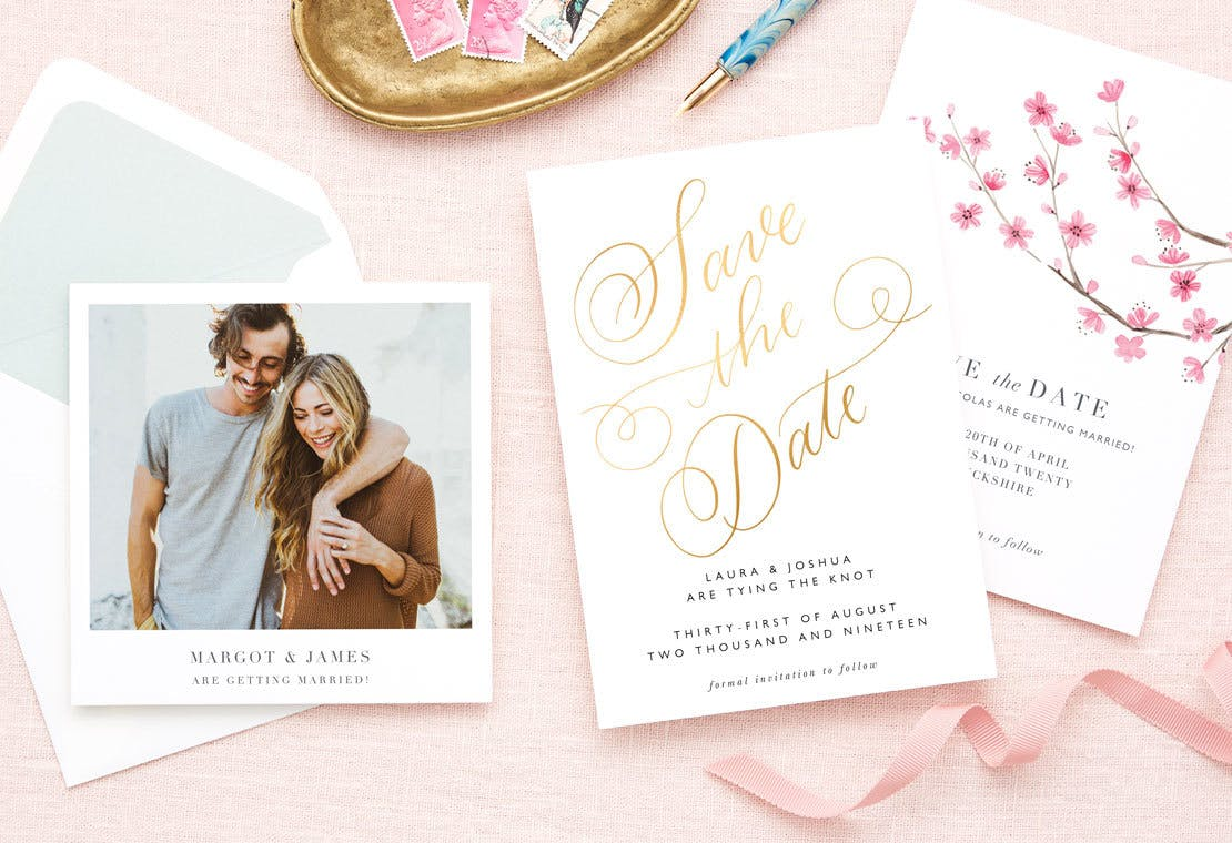 customisable wedding save the date cards papier
