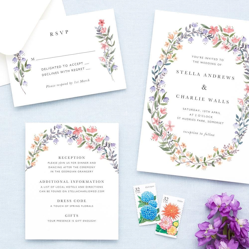 Beautiful, Customisable Wedding Invitations & Stationery
