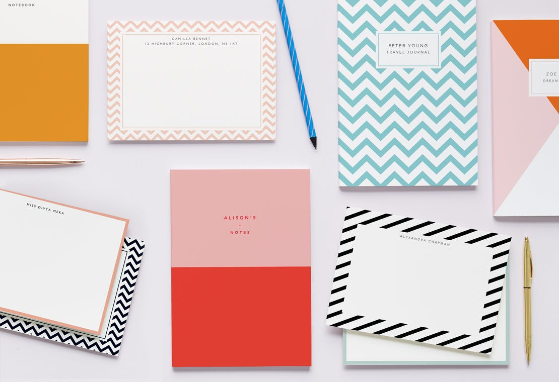 Color Block Stationery