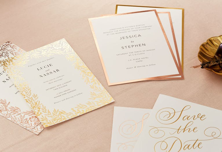 The Foil Pressed Stationery Collection