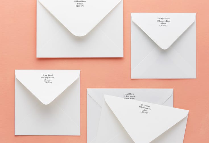 Add your return address - 25p per envelope