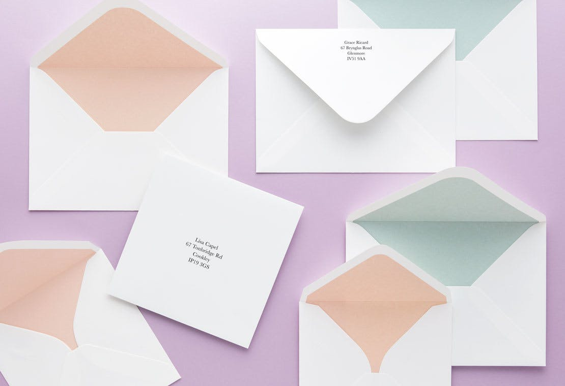 Upgrade to a colored envelope for $0.20