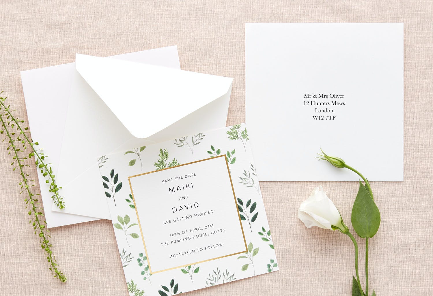 Papier recipient address envelope printing