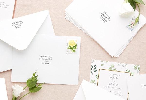 How to address wedding envelopes