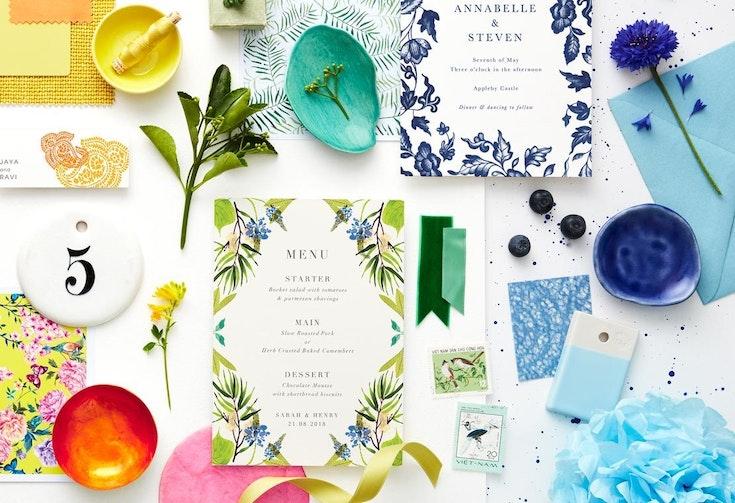 Summer wedding colours