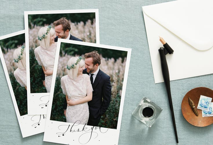 Send wedding thank you cards