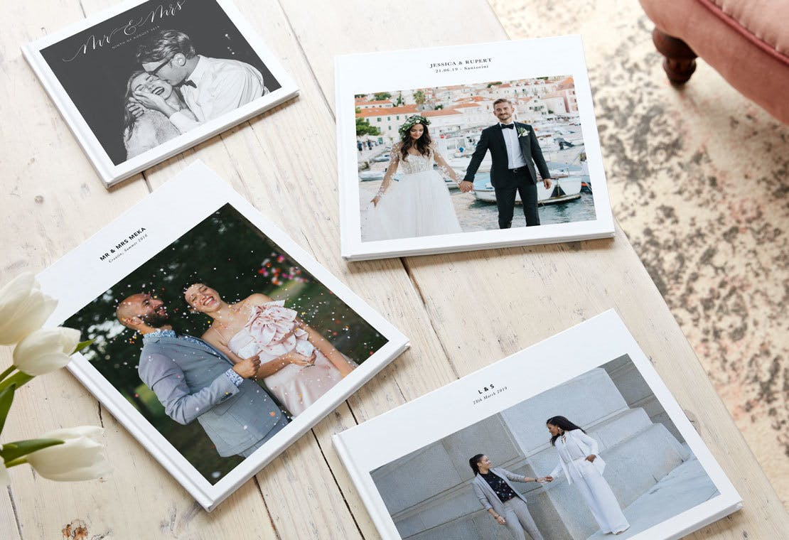 Create a wedding photo book