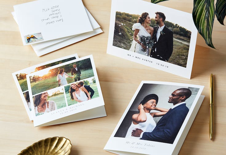 The etiquette of wedding thank you cards