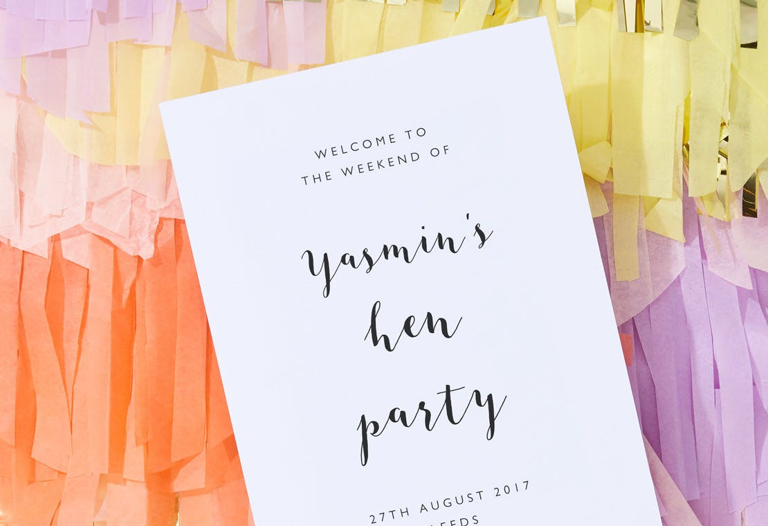 Hen Party Signs