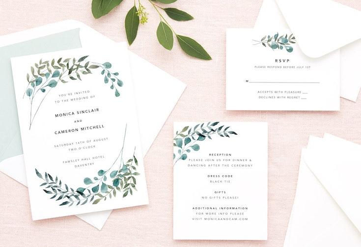 Beautiful Customisable Wedding Invitations Stationery