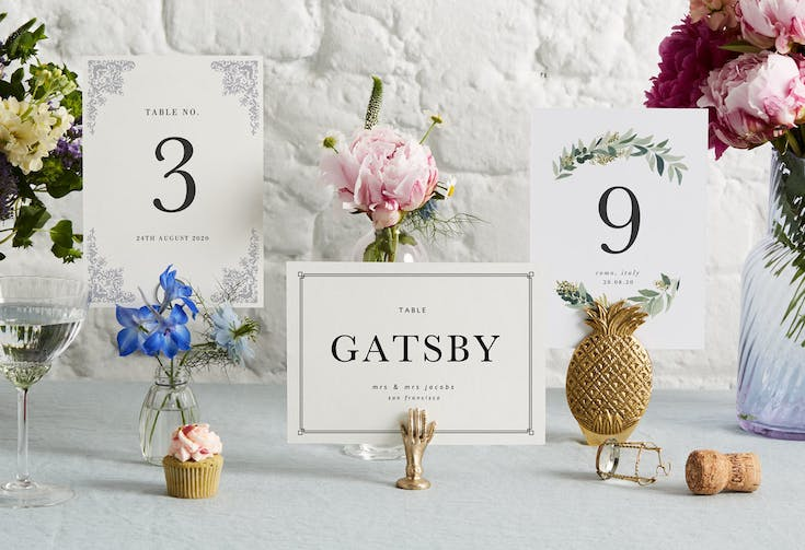 Table Names and Numbers