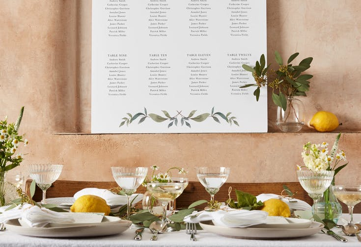 Table Seating Plans