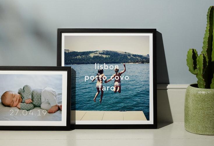 Caption Framed Print