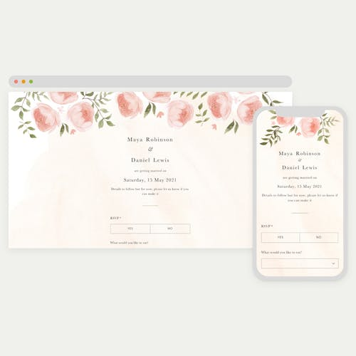 Send online save the dates