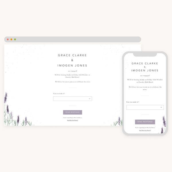 Online engagement invitations