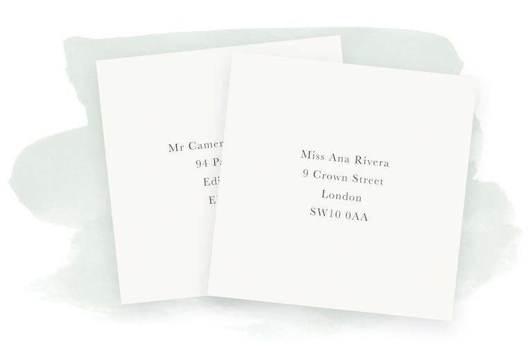 Easy envelope & place card printing