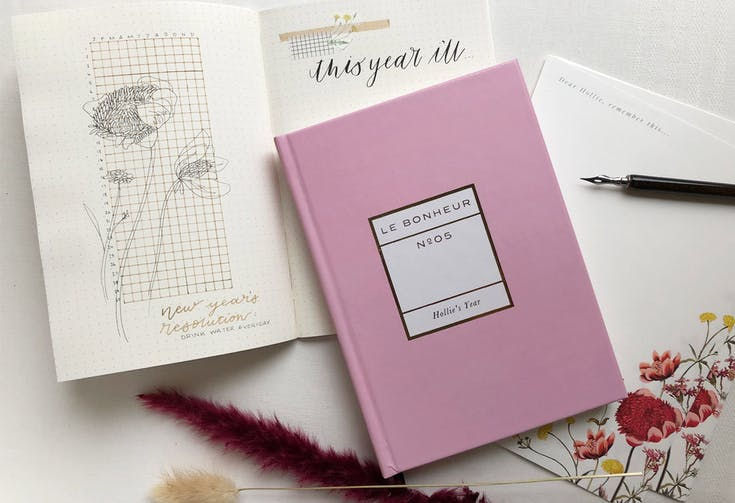 Piece of Mind Journal's Bullet Journal Tips for New Year's Resolutions