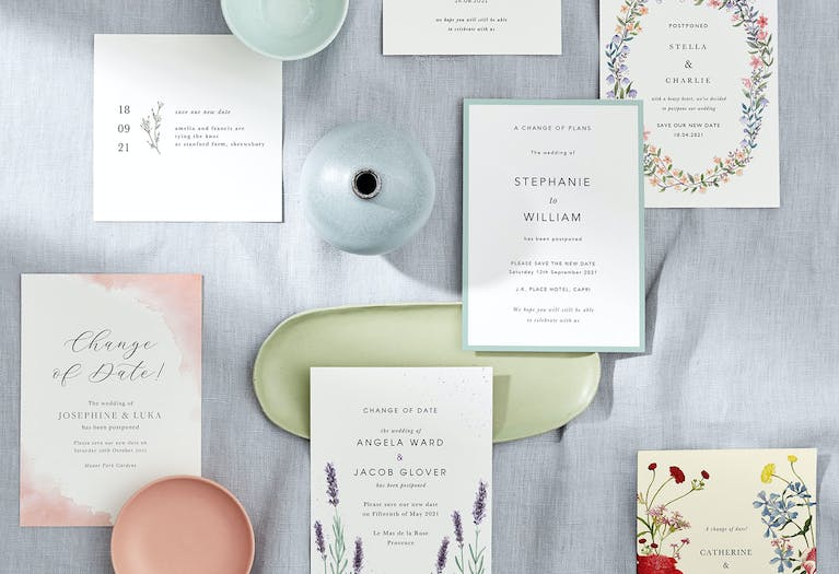 What to write when your wedding plans change