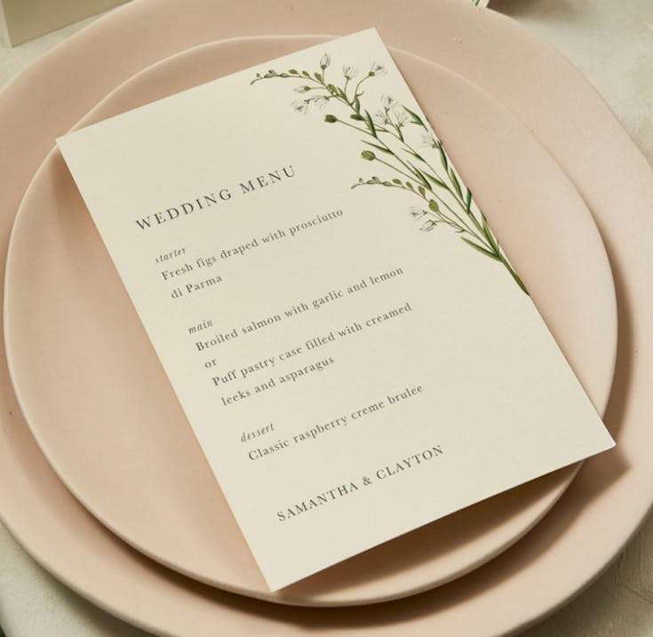 Menus for your table