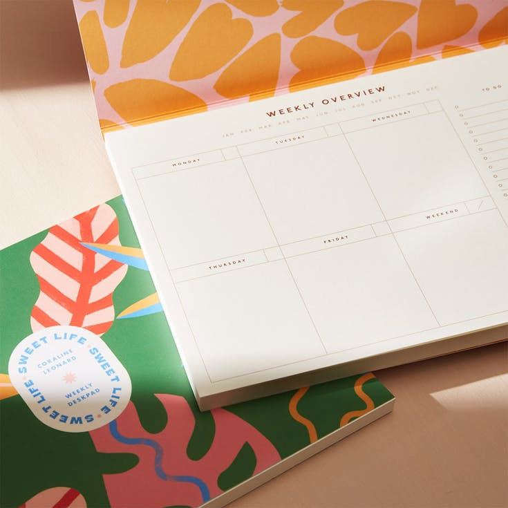 Our weekly desk planners