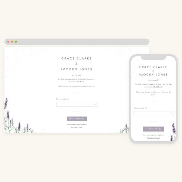 Online engagement invitations