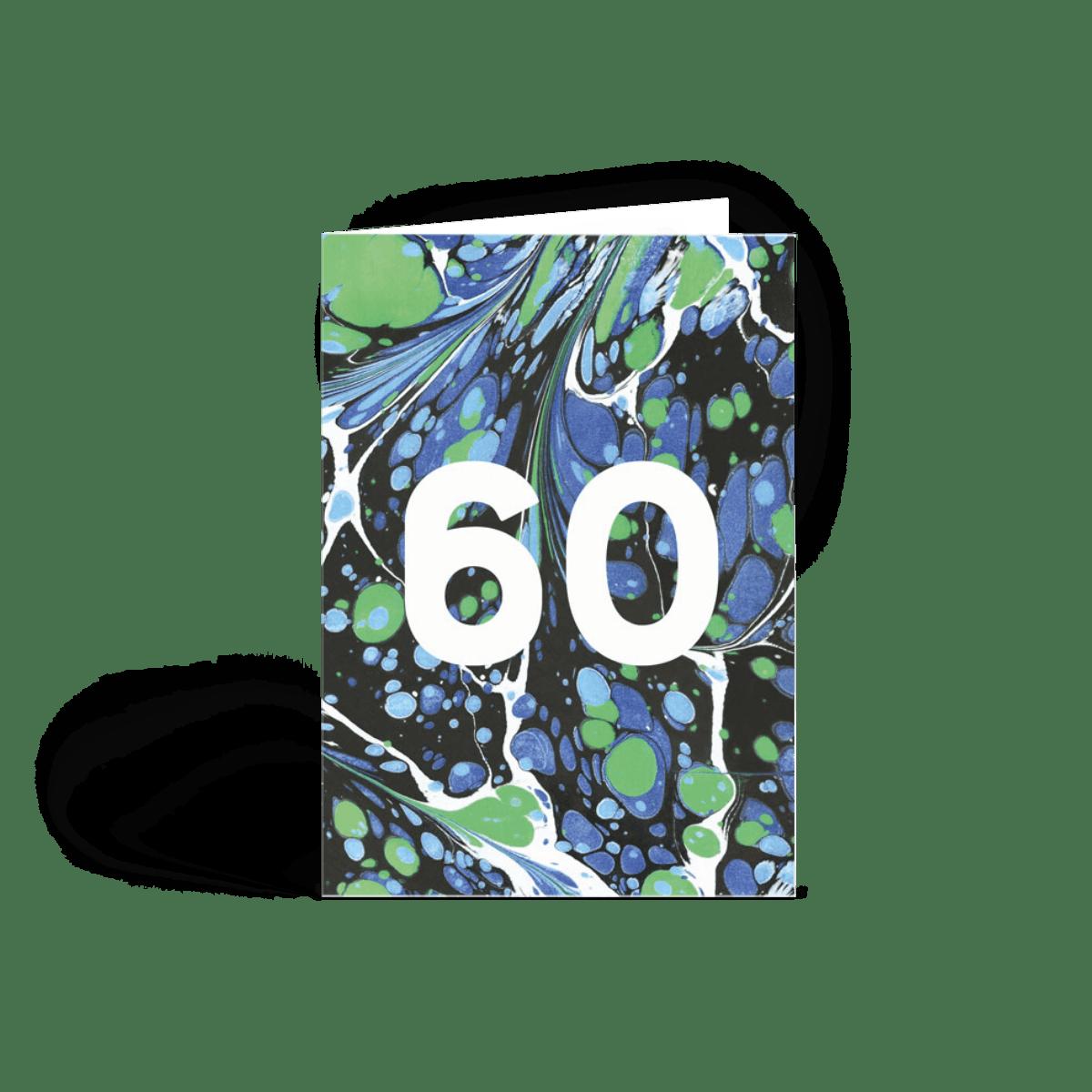 piscine lunar 60th  60th birthday card  papier