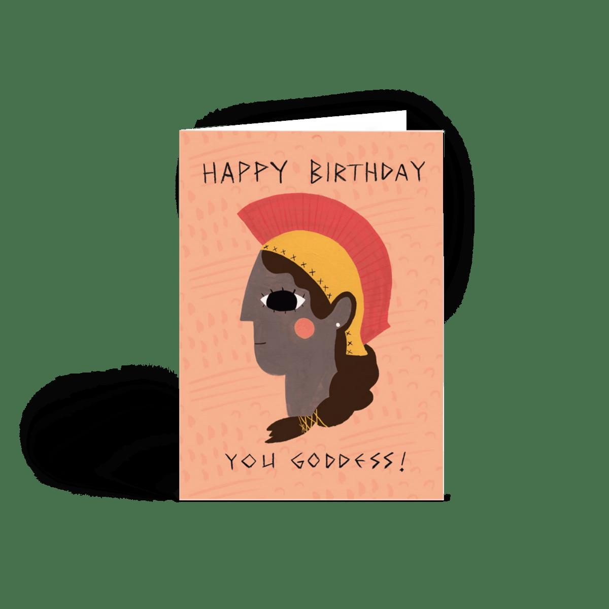 athena  birthday card  papier