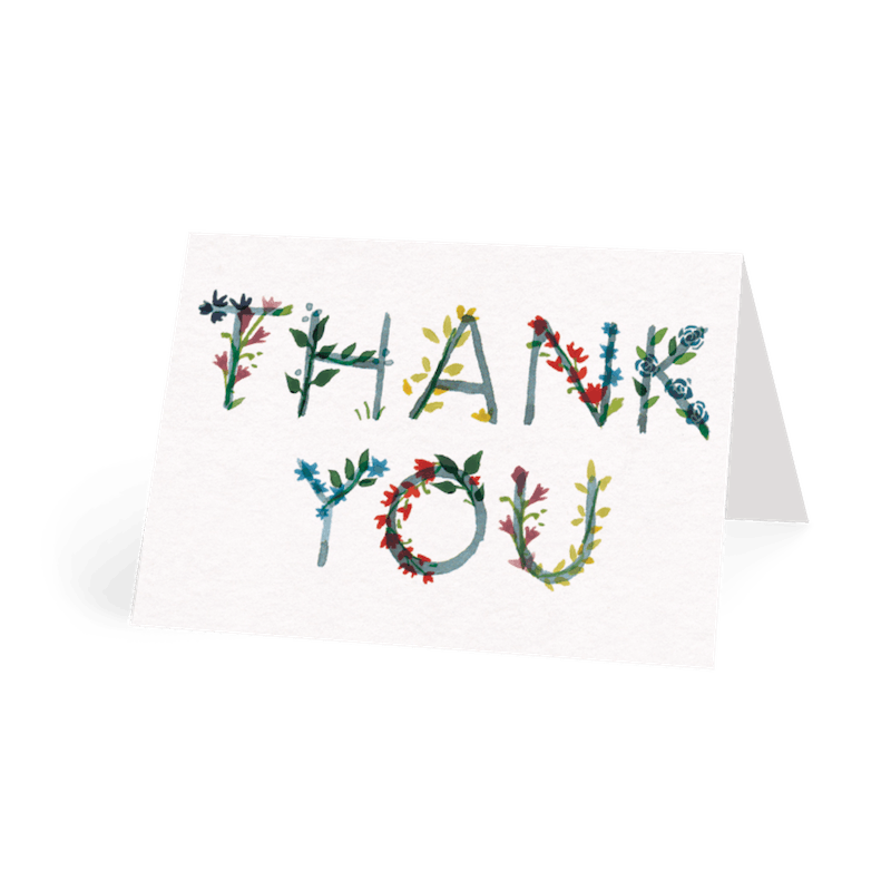 Send A Personalised Thank You Card   Single Cards   Papier