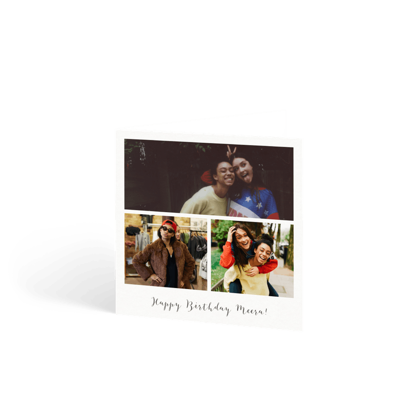 trio photo frame - Personalised Birthday Cards