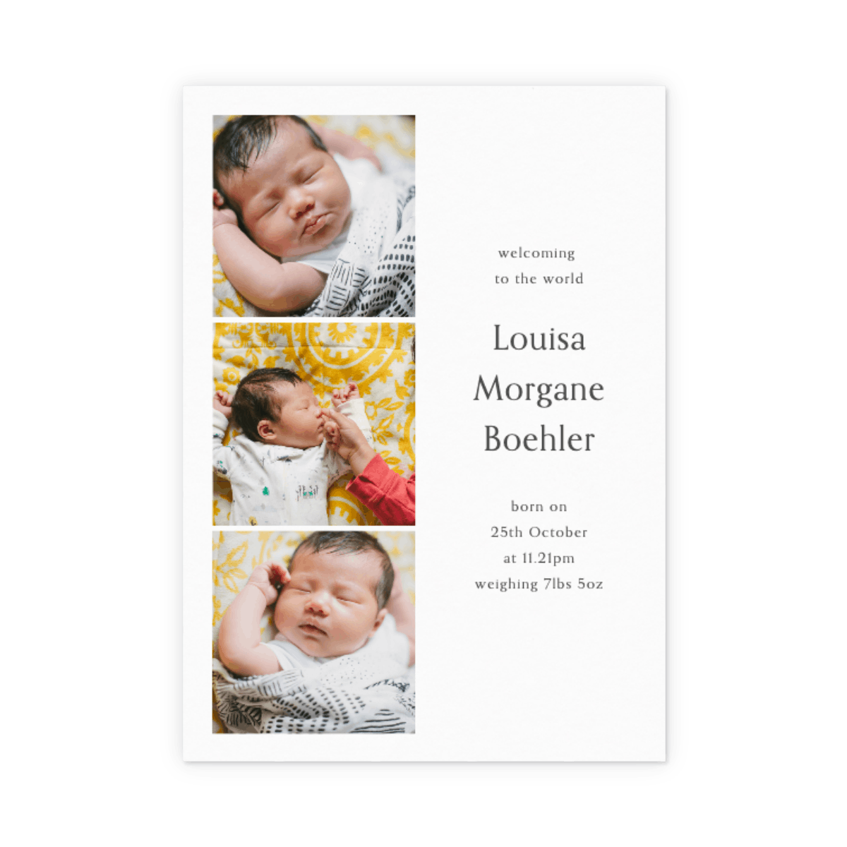 Birth Announcement Cards New Baby