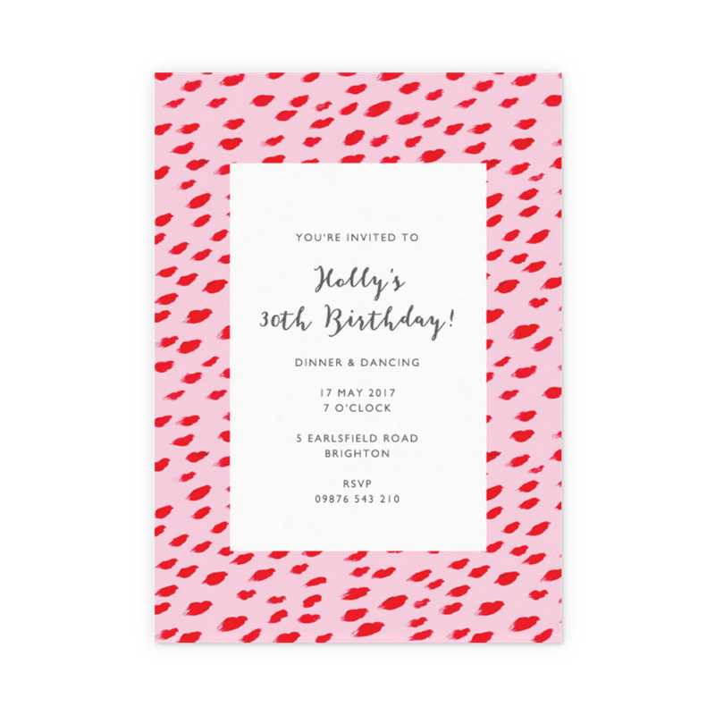 personalised birthday party invitations customise online papier