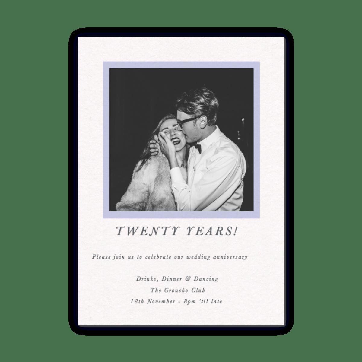 Rahmen Foto | Einladungen zum Jahrestag | Papier