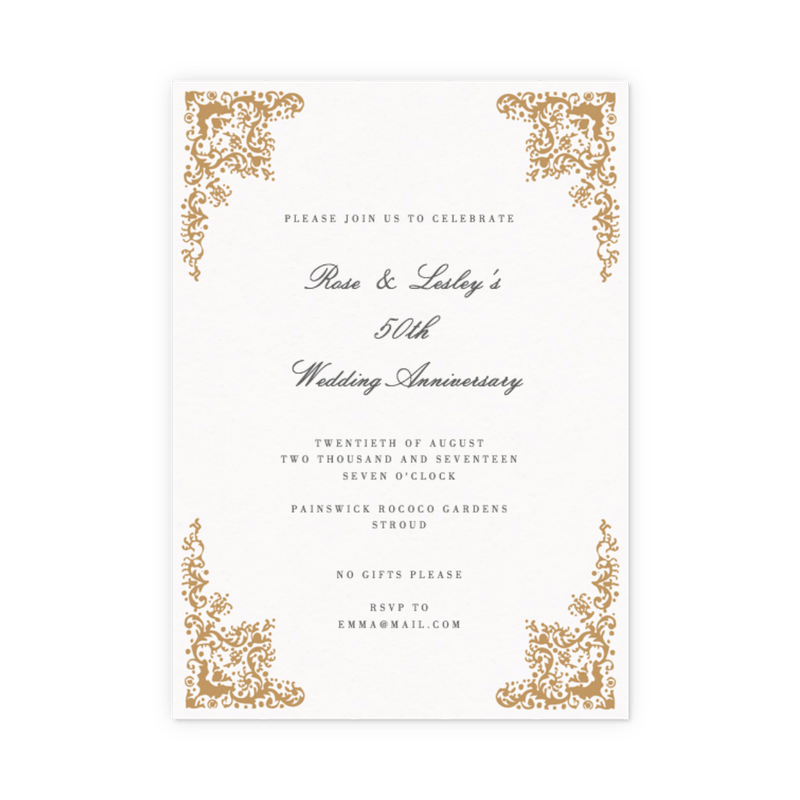customisable anniversary party invitations papier