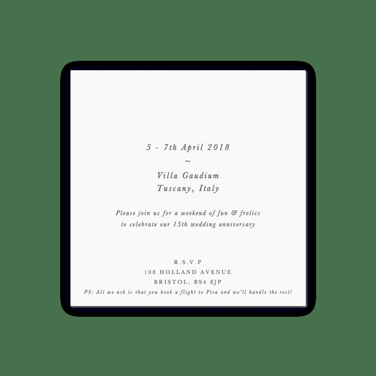 Jahrestag Bilderrahmen | Einladungen zum Jahrestag | Papier