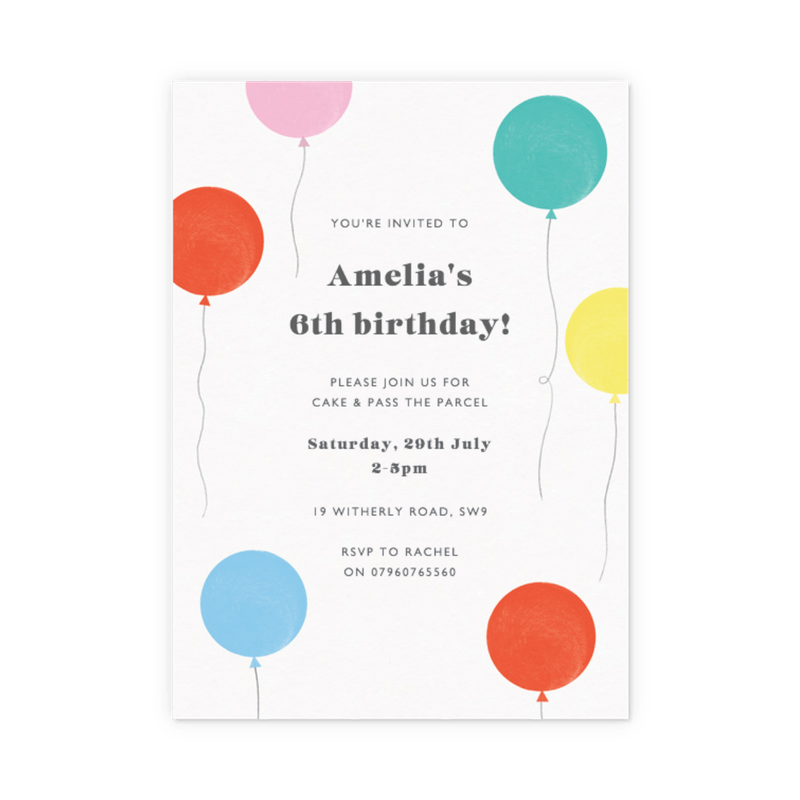 customizable kids birthday party invitations papier