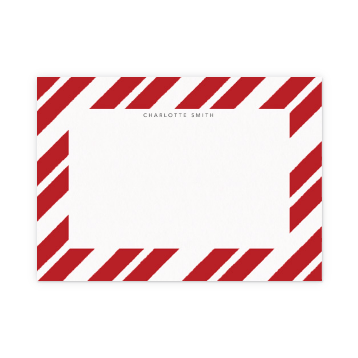 Red Paint Stripe | Stationery Set | Papier