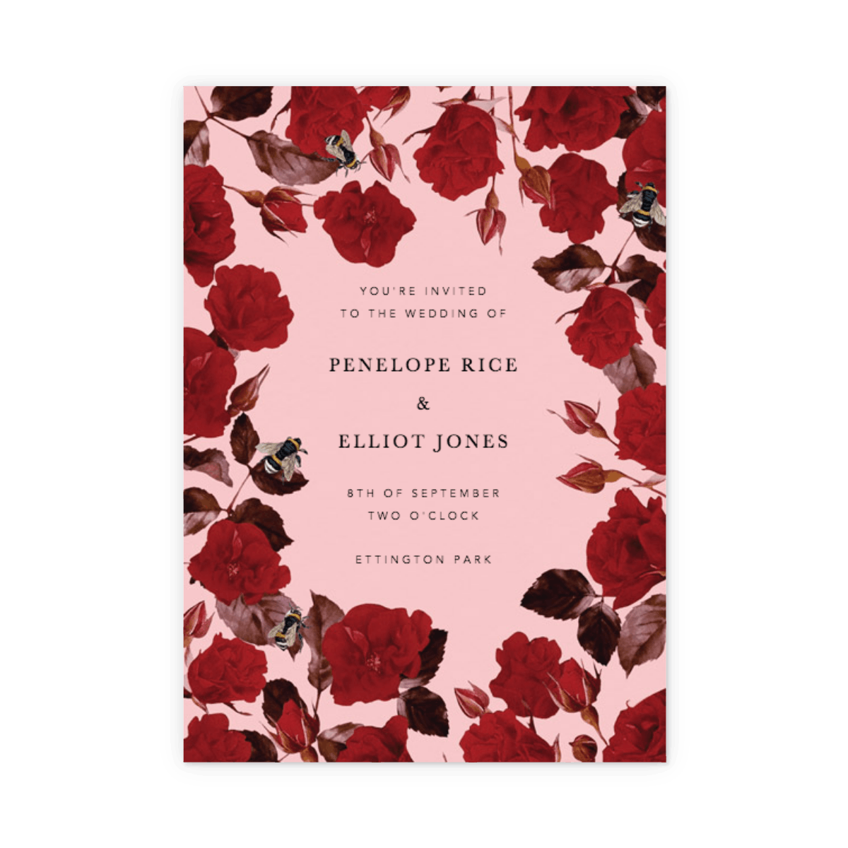 Scarlet Rose | Wedding Invitation | Papier