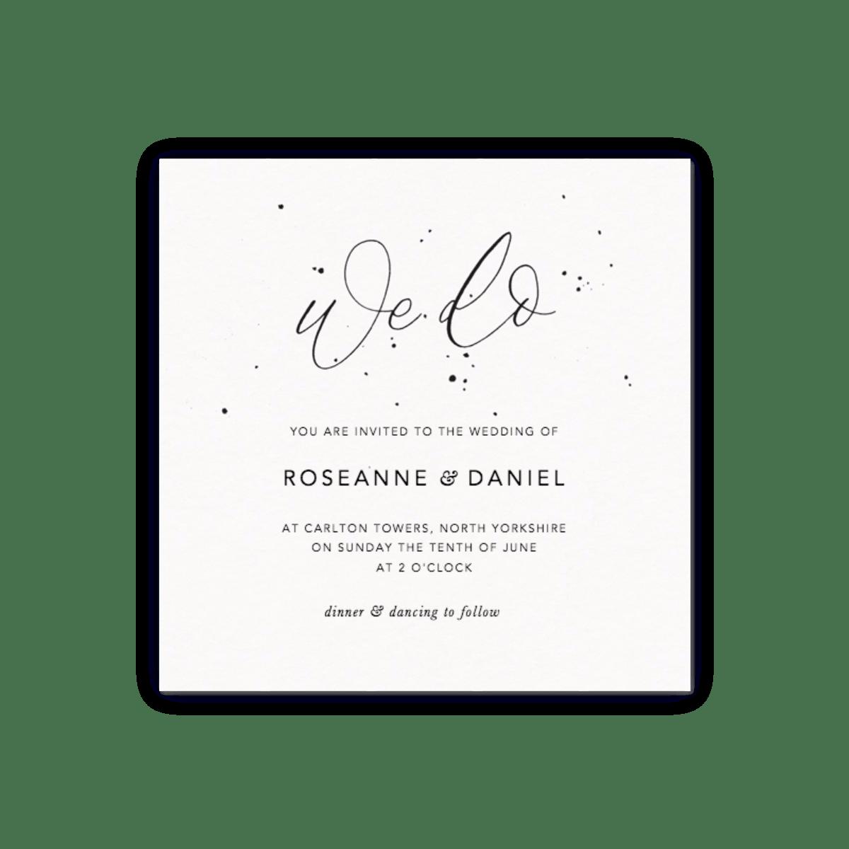 We Do Speckle | Wedding Invitation | Papier
