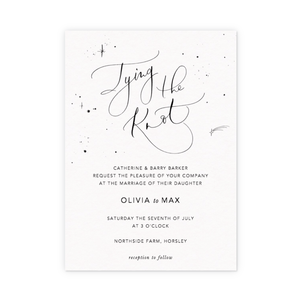 Tying the Knot Starry | Wedding Invitation | Papier