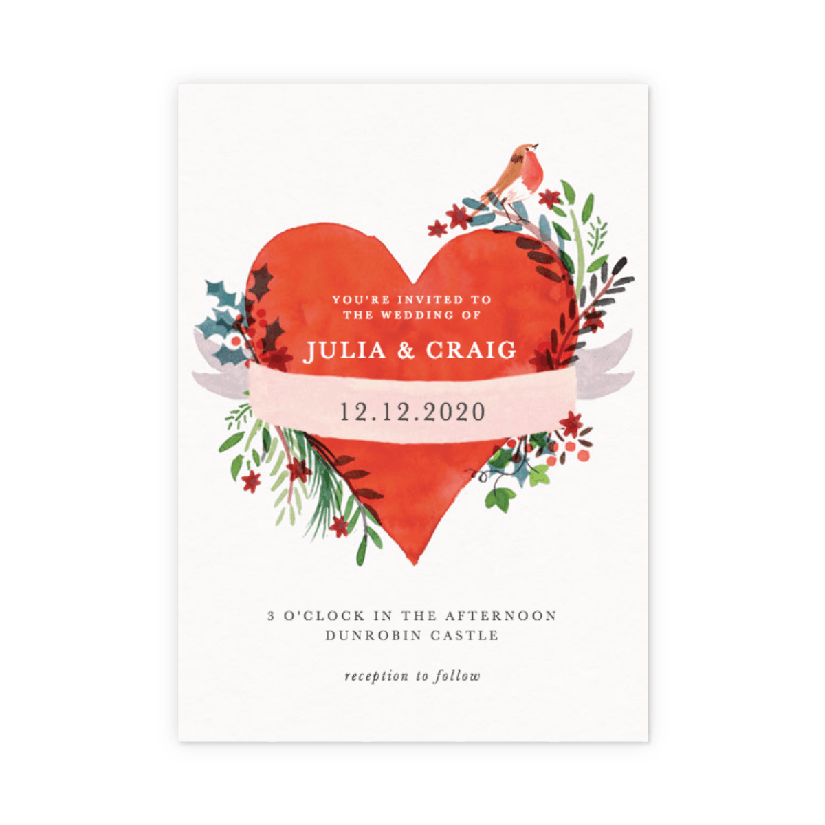 Christmas Heart | Wedding Invitation | Papier