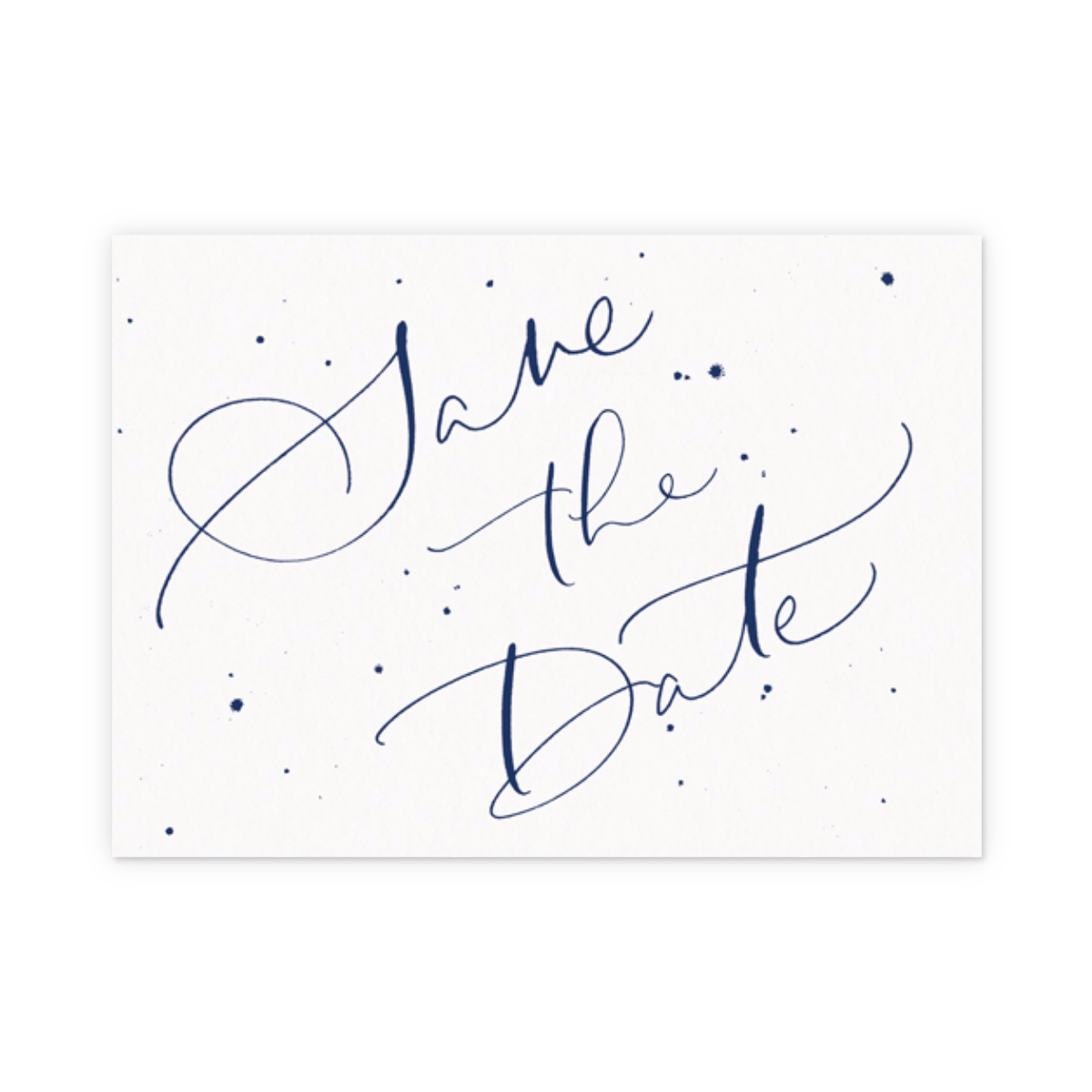 Save The Date Speckle Navy Save The Date Papier