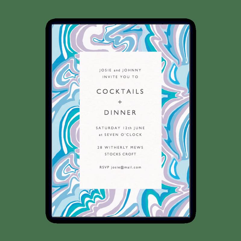 dinner party invitations papier