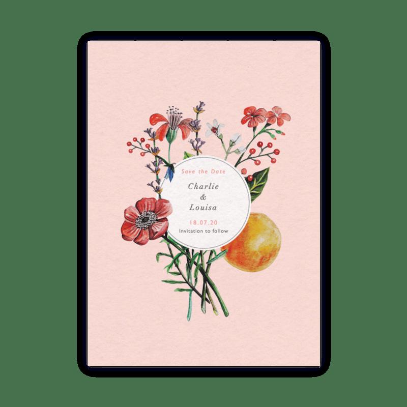 Wild Flowers For Wedding: Wedding Invitation