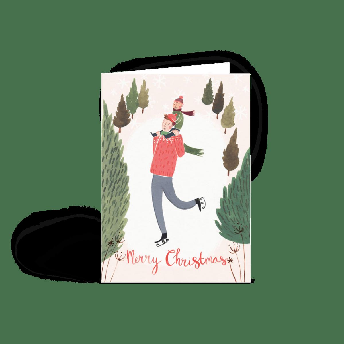 Ice Skating | Christmas Card Set | Papier