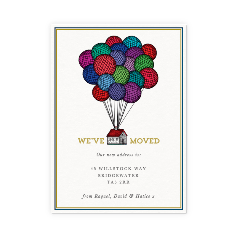 New Home Announcement Cards Change Of Address Cards Papier