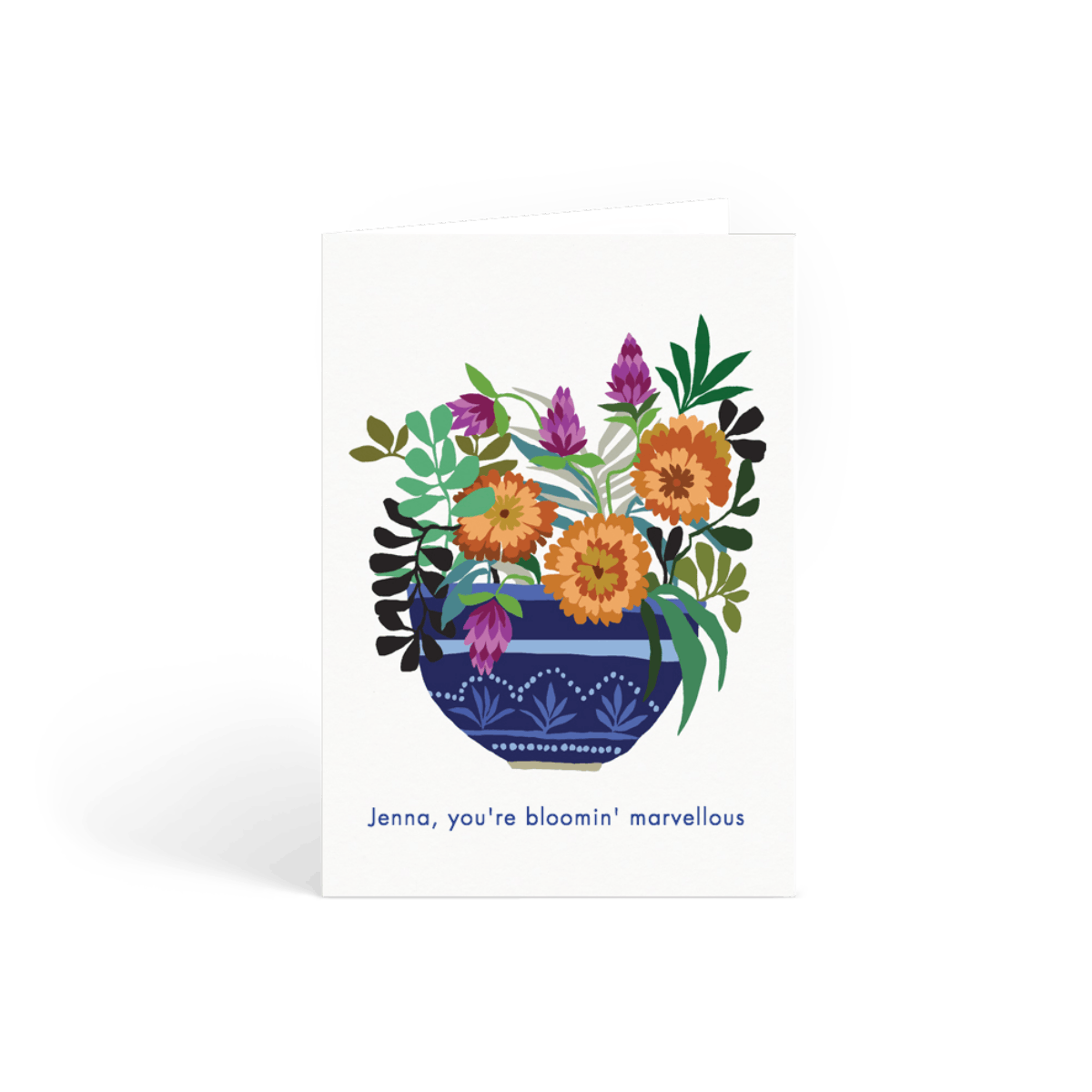 marigolds  flower birthday card  papier